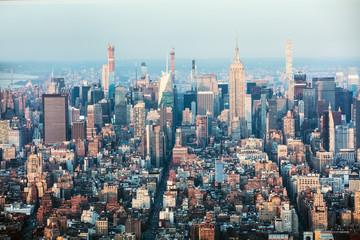 New York City Skyline With Urban Sky Scrapers