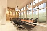 Office Photorealistic Render. 3D illustration. Meeting room.