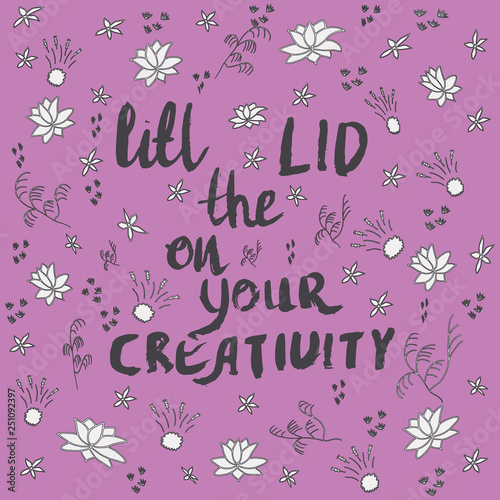 Lift the lid on your creativity with doodle flower