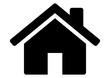 Leinwanddruck Bild - gz327 GrafikZeichnung - siwb546 SignIsolatedWhiteBackground siwb - german: Haus / english: house - simple template - DIN A2, A3, A4 - g7251