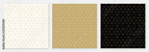 obraz PCV Background pattern seamless geometric abstract gold luxury color vector.