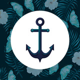 marine anchor cartoon