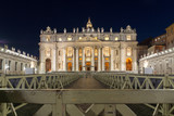 Amazing Night photo of Vatican and St. Peter's Basilica in Rome, Italy