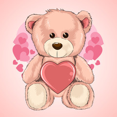 VALENTINE DAY LOVE TEDDY BEAR HEART