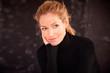 Beautifl smiling mature lady portrait