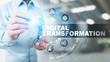 Leinwanddruck Bild - Digital transformation, disruption, innovation. Business and  modern technology concept.