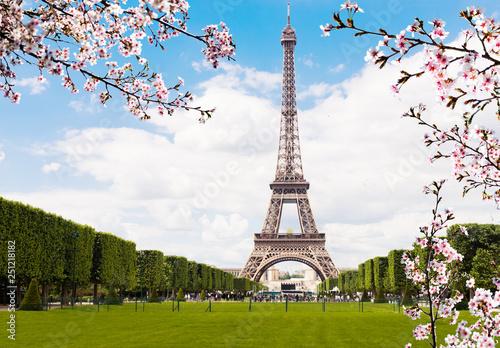 Leinwanddruck Bild Spring in Paris.