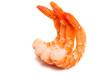 Leinwanddruck Bild - boiled shrimp isolated