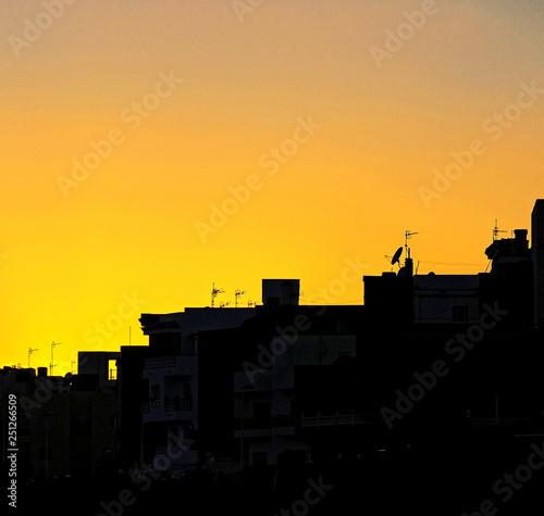 obraz PCV Sunset over the Atlantic Ocean