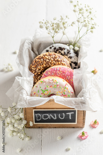 Sweet and fresh donuts ready to eat © shaiith