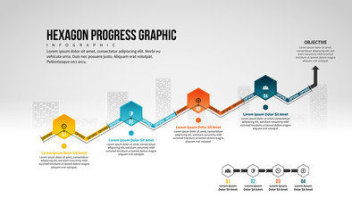 Hexagon Progress Graphic