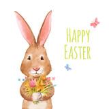 Cute easter vector rabbit