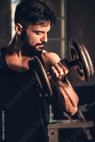 portrait of a fitness young man - 251368175