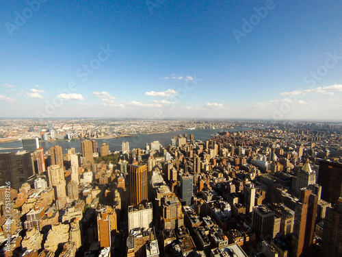 obraz lub plakat a pano of lot of skyscrapers in NY city , shoots from Empire State building , Manhattan