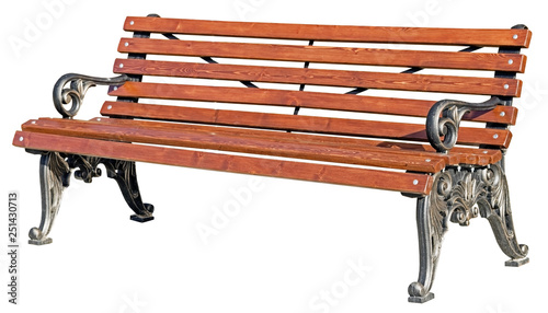 Park Bench Isolated on White - 251430713