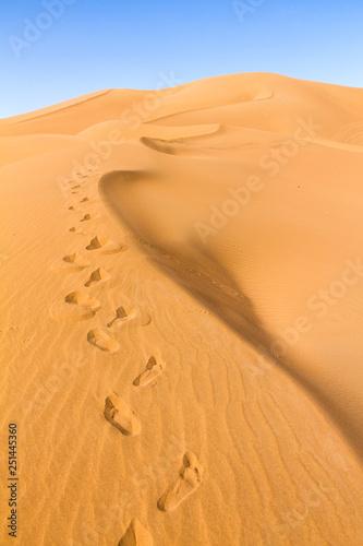 Leinwandbild Motiv Deserto del Sahara, Dune di Erg-Chigaga, M'Hamid El Ghizlane, Marocco