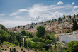 Leinwandbild Motiv panoramic neighborhood Albayzin Granada