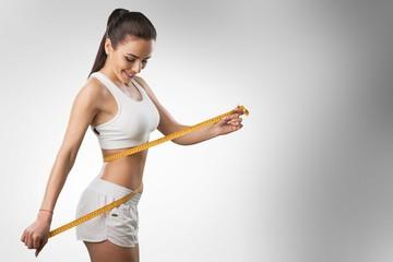 Weight lose woman loss waist abdomen belly