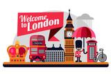 Fototapeta Londyn - London vector flat style illustration  © iuliia
