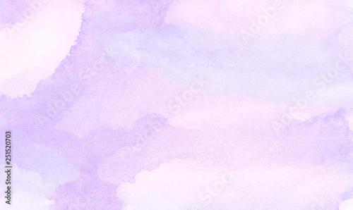 obraz lub plakat Vintage light purple watercolor paint hand drawn illustration with paper grain texture for aquarelle design. Abstract grunge violet gradient violet water color artistic brush paint splash background