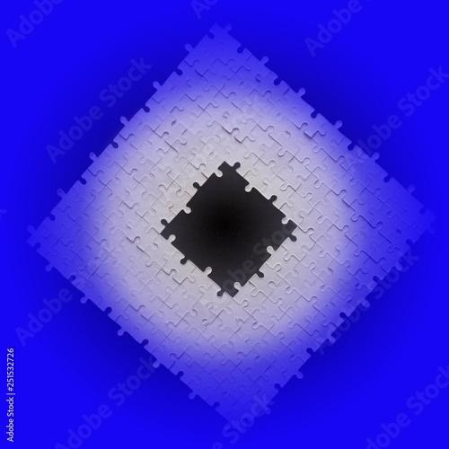 Leinwandbild Motiv cardboard jigsaw puzzles