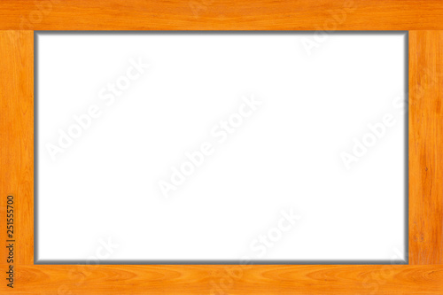 Wood frame isolated on white background.Vintage concept.