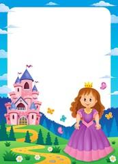 Princess and castle composition frame 1