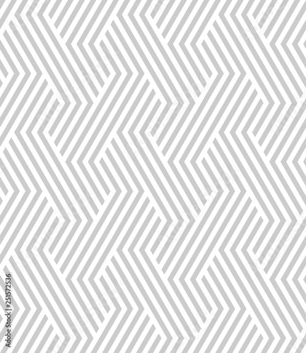 Vector seamless texture. Modern geometric background with broken lines. - 251572536