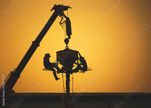 mata magnetyczna silhouette of a crane , Construction