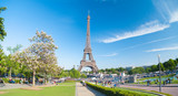 Fototapeta Wieża Eiffla - Eiffel Tower in Paris, France © Aliaksei