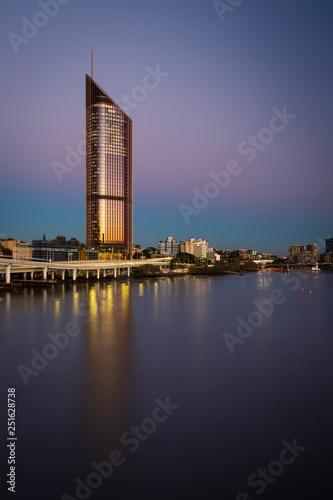 Australia brisbane queensland lagoon sunset