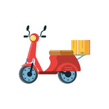 motorcycle for delivery logistic service