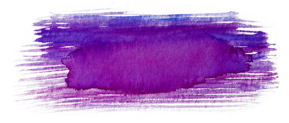watercolor stain texture gently blue with purple dry brush brush strokes. © Alex