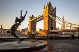 London cityscape with Tower Bridge