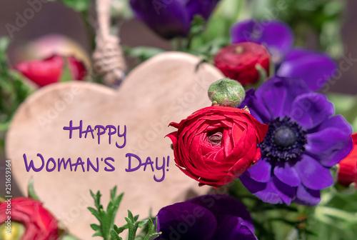 Leinwandbild Motiv Happy Woman's Day!