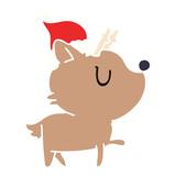 christmas cartoon of kawaii deer