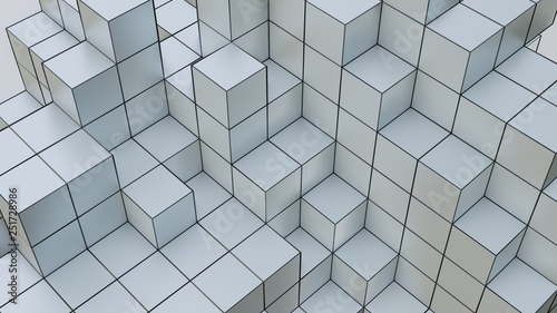 Background with gray abstract cubes