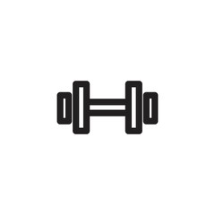 barbell outline vector icon © fersus art