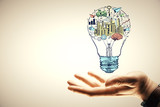 Hand drawing business idea concept. - 251767949