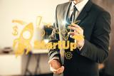 Business scheme concept, startup double exposure background. - 251768321