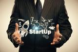 Business scheme concept, startup double exposure background. - 251768390