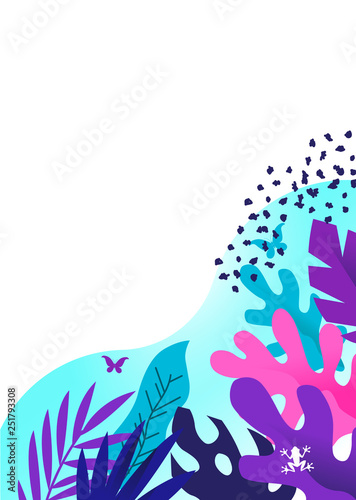 Colourful Vector Botanical Floral Design