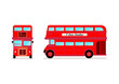 London city bus Front and Side view