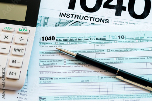 New 2019 Irs 1040 Tax Form Instructions Pen And Calculator Buy