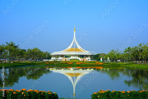 mata magnetyczna Resting in the park.Public park at Suanluang Rama 9, Asia ThailandFlower and tree gardens of various colors and varieties.Beautiful public parkland Suan Luang R.9 in Bangkok Thailand,