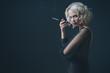 cigarette and woman