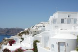White white Santorini village on the Greek island