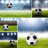 Fototapeta Sport - Collage mit Fußball Bildern im Stadion © OFC Pictures