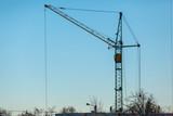 construction crane against the blue sky