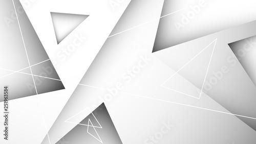 trójkąty białe abstrakcyjne tło wektor - 251963584